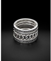 Lois Hill Set Of 5 Silver Stack Rings.