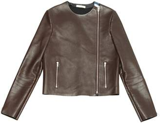 Celine Burgundy Leather Jackets