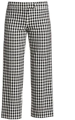 Derek Lam 10 Crosby Gingham Flannel Pants