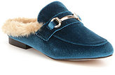 Steve Madden Jill Velvet Faux Fur Lined Slip On Dress Mules