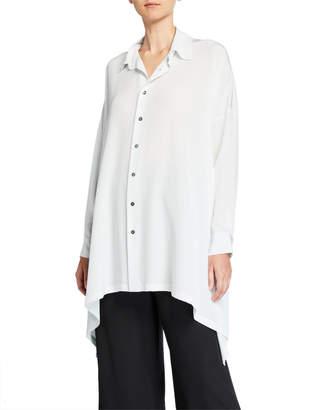 eskandar Silk Collared Handkerchief Shirt