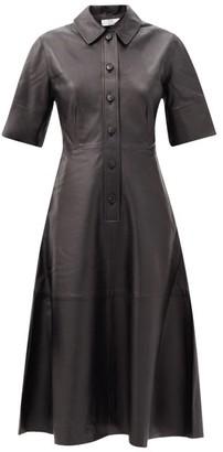 Co Leather Shirt Dress - Black