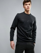 Jack and Jones Tech Logo Sweatshirt With Side Zips In Longline