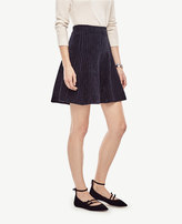 Ann Taylor Striped Flare Sweater Skirt