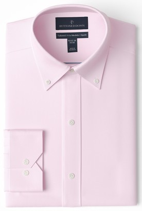Buttoned Down Tailored Fit Button-Collar Pinpoint Non-Iron Dress Shirt