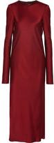 Haider Ackermann Glyzinie Satin Dress - Burgundy