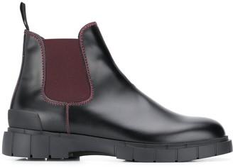 Car Shoe contrast-panel Chelsea boots