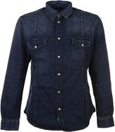 Golden Goose Deluxe Brand Blue Denim Shirt