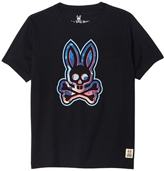 Psycho Bunny Kids Printed Tee (Toddler/Little Kids/Big Kids) (Black) Boy's Clothing
