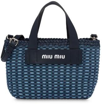 Miu Miu Woven Handbag