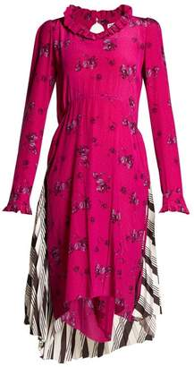 Balenciaga Hybrid Dress - Womens - Pink Print