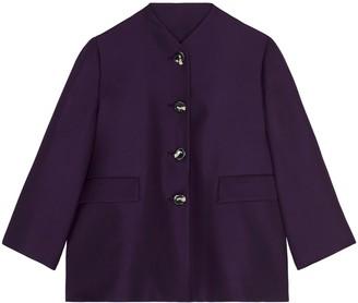 Lindsay Nicholas New York Swing Jacket In Blackberry