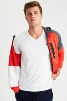 American Eagle Outfitters AE Flex Solid V-Neck T-Shirt