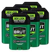 Brut Anti-Perspirant Plus Deodorant, Classic, 2 Ounce (Pack of 6)