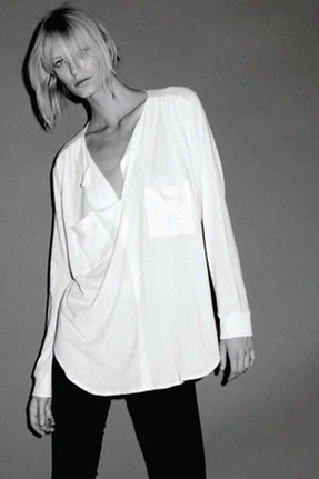 LnA Blouse Tee in White