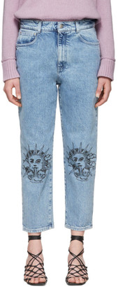 Stella McCartney Blue We Are The Weather Sun Motif Jeans
