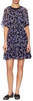 Kate Spade Hydrangea Silk Chiffon A Line Dress