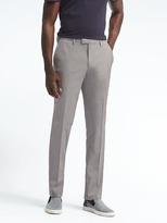 Banana Republic Slim Gray Micro-Stripe Wool-Cotton Suit Trouser