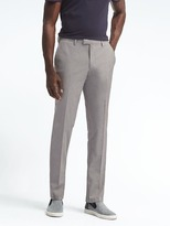 Banana Republic Slim Light Gray Wool Cotton Suit Trouser