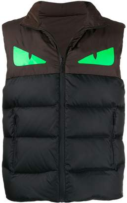 Fendi padded high neck gilet