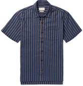Oliver Spencer - Hawaiian Striped Cotton-jacquard Shirt