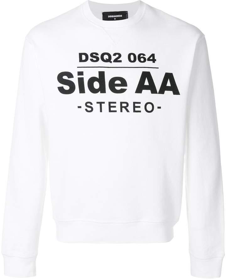 DSQUARED2 side AA logo sweatshirt