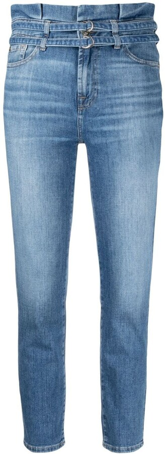 7 For All Mankind High Waisted Skinny Jeans