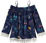 Girls 4-12 SONOMA Goods for LifeTM Smocked Off-The-Shoulder Floral Top