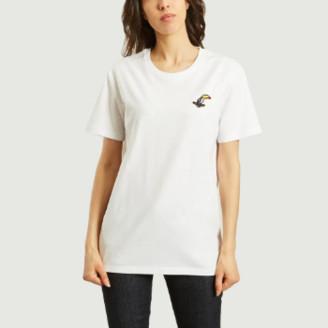 Bricktown World - White Cotton Toucan T Shirt - cotton | white | s - White/White