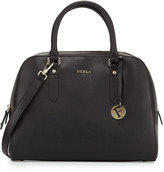 Furla Elena Medium Leather Satchel Bag, Onyx