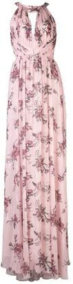 Marchesa Notte Bridesmaids Halterneck Floral Bridesmaid Dress