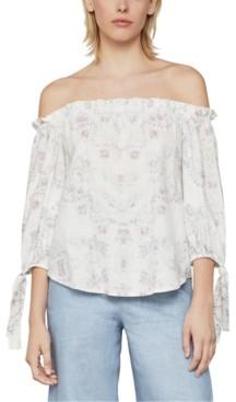 BCBGMAXAZRIA Floral-Print Off-The-Shoulder Blouse