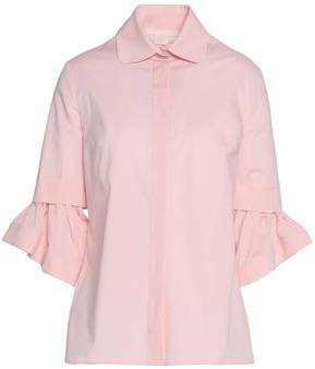 Antonio Berardi Layered Cotton-Blend Poplin Shirt