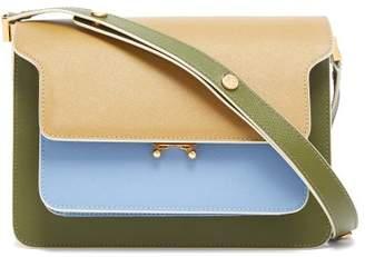 Marni Trunk Medium Saffiano-leather Shoulder Bag - Womens - Blue White