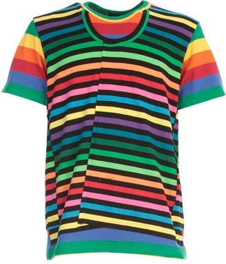 Comme des Garcons Cotton Jersey Horizontal Striped T-shirt