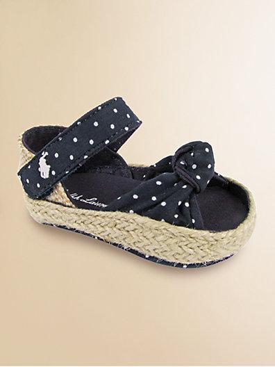 Ralph Lauren Infant's Polka Dot Fistina Sandals