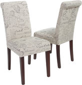 Asstd National Brand Edeline Set of 2 French Script Parsons Dining Chairs