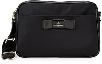Karl Lagerfeld Paris Penny Nylon Messenger Bag