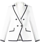 Veronica Beard Harriet Cutaway Contrast Dickey Jacket