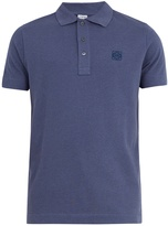 Loewe Logo-embroidered cotton-piqué polo shirt