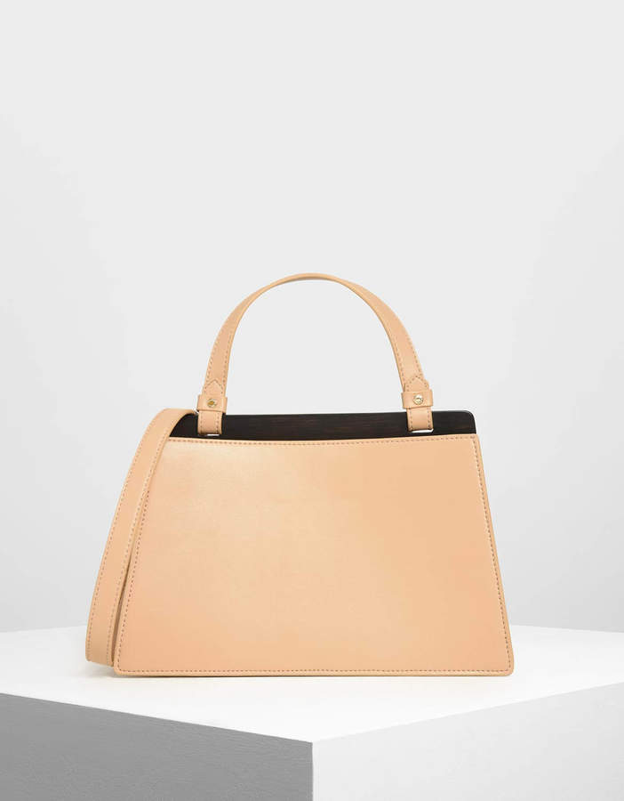 Charles & Keith Trapezoid Top Handle Bag