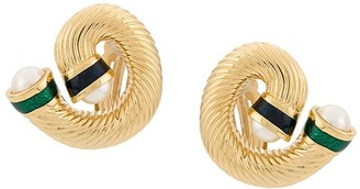 Givenchy Pre Owned 1980s 18kt Gold Plated Faux Pearl Clip-On Earrings
