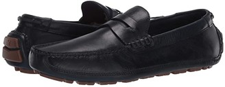 Trask Dawson (Navy English Calfskin) Men's Slip-on Dress Shoes