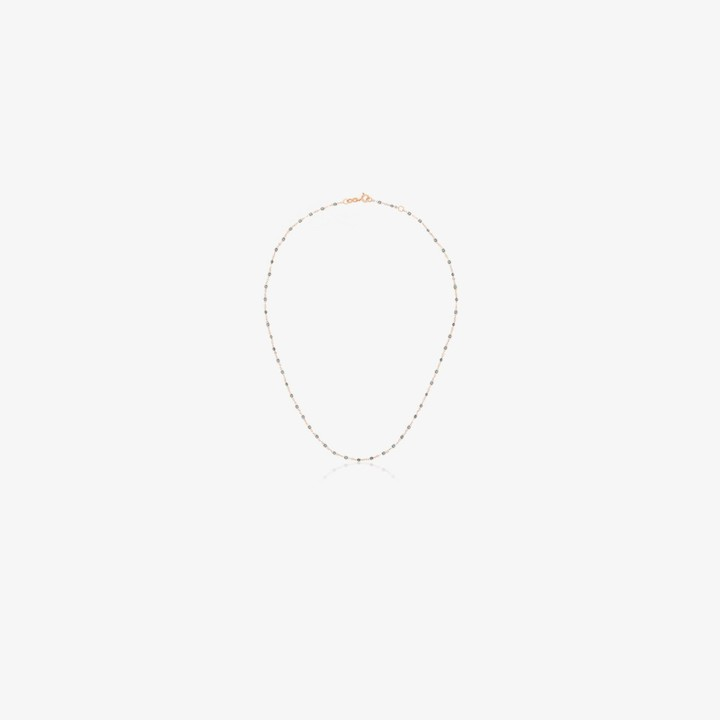 Gigi Clozeau 18K rose gold 42 CM beaded necklace