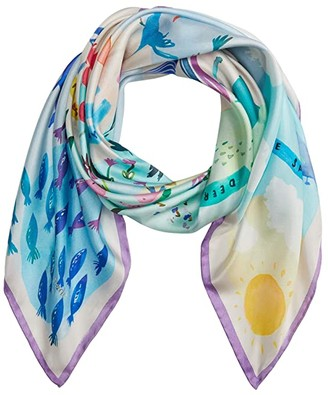 Kate Spade Beach Roadtrip Square Scarf (Pale Dogwood) Scarves