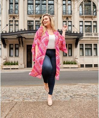 All Worthy Hunter McGrady Printed Open Front Duster Kimono
