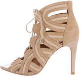 Joie Lace-Up Suede Sandals