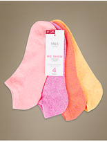 M&S Collection 4 Pair Pack Trainer Liner Socks