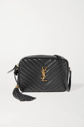 Saint Laurent Lou Medium Quilted Leather Shoulder Bag - Black