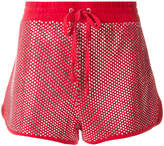 Juicy Couture Exclusive Swarovski embellished velour shorts